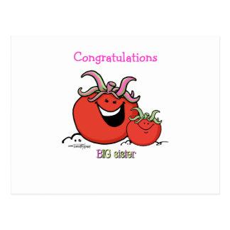 Big Sister - Tomato Postcard