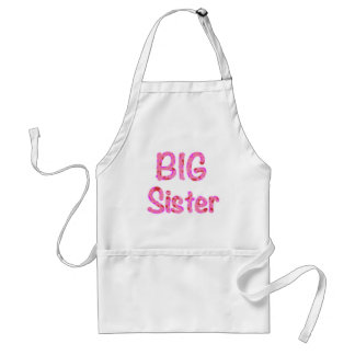 Big Sister Typography Adult Apron