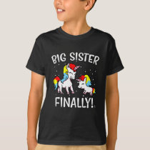 Big Sister Unicorn Gift T-Shirt