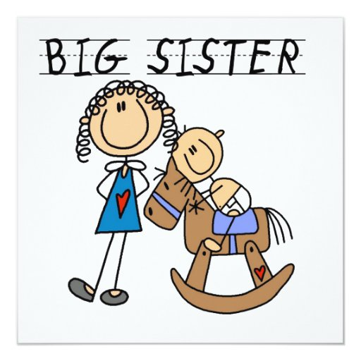 Big Sister With Baby Brother Gifts Invitations