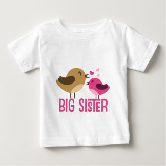 Big Sister With Birdies Infant T-shirt