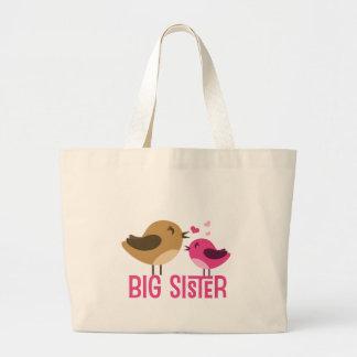 Big Sister With Birdies Large Tote Bag