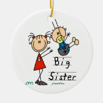 Big Sister with Little Brother Gifts Ceramic Ornament