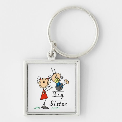 Big Sister with Little Brother Gifts Keychains