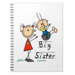 Big Sister with Little Brother Gifts Spiral Notebook