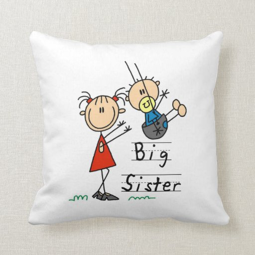 Big Sister with Little Brother Gifts Throw Pillows