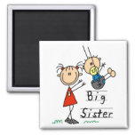 Big Sister with Little Brother Tshirts and Gifts 2 Inch Square Magnet