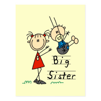 Big Sister with Little Brother Tshirts and Gifts Postcard