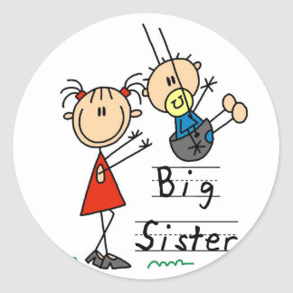 Big Sister with Little Brother Tshirts and Gifts Classic Round Sticker