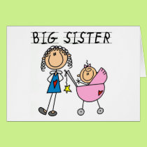Big Sister with Little Sis Tshirts Card