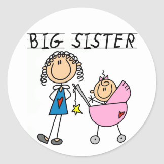 Big Sister with Little Sis Tshirts Classic Round Sticker