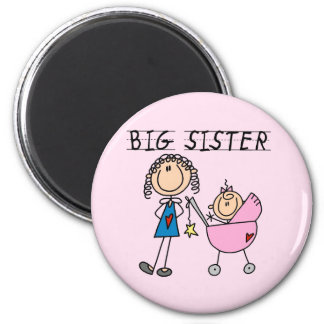 Big Sister with Little Sis Tshirts Fridge Magnets