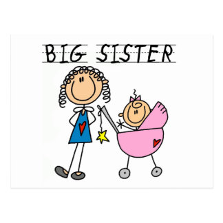 Big Sister with Little Sis Tshirts Postcard