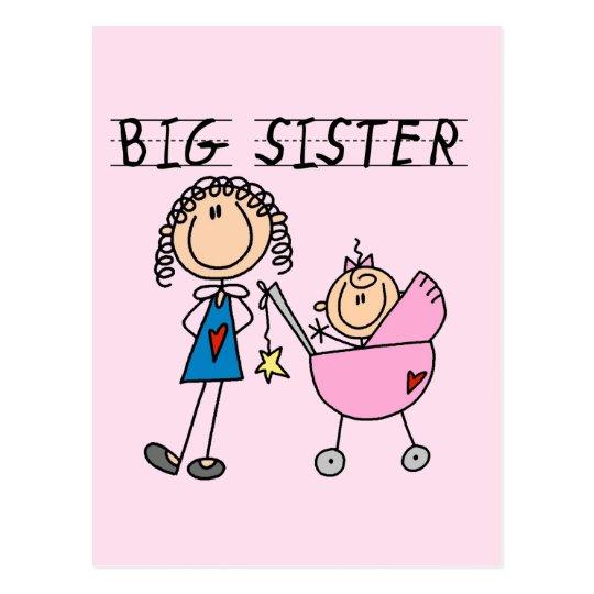 Big Sister with Little Sis Tshirts Postcard