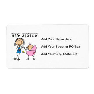 Big Sister With Little Sister Gifts Label