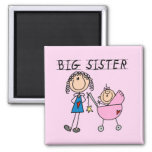 Big Sister With Little Sister T-shirts and Gifts 2 Inch Square Magnet