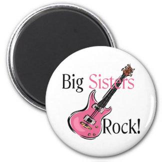 Big Sisters Rock Fridge Magnets