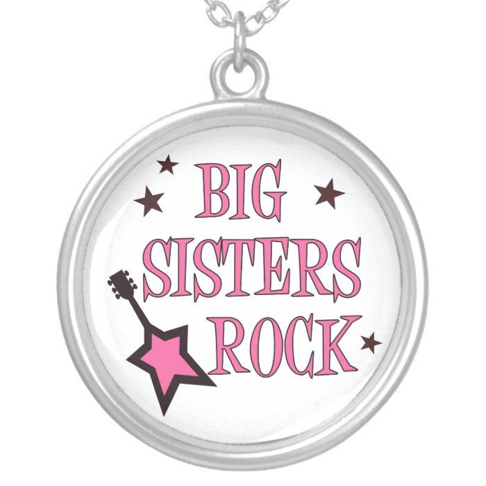 Big Sisters Rock Necklace