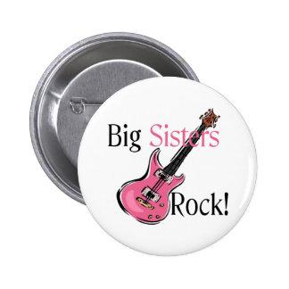 Big Sisters Rock Pinback Button