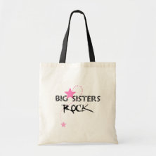 Big Sisters Rock Tote Canvas Bags