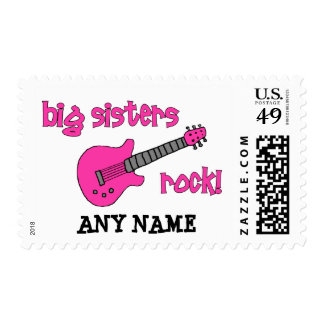 Big Sisters Rock! with Pink Guitar Stamps