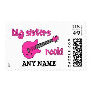 Big Sisters Rock! with Pink Guitar Stamp