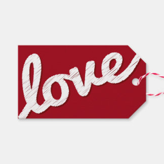 Big Sketched Love Valentine's Day Photo Gift Tags