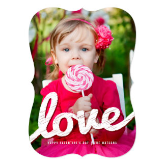 Big Sketched Love XO Valentine's Day Photo Cards