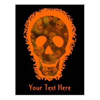 Big Skull Orange 'Your Text' postcard