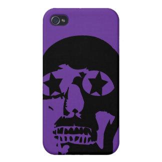 Big Skull Purple iPhone Cases