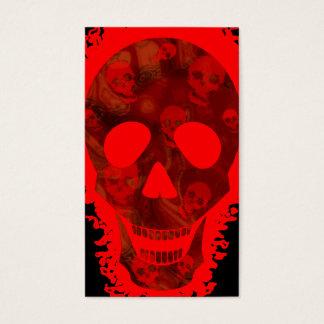 Big Skull Red business card vertical black