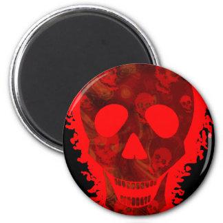 Big Skull Red (close up) fridge magnet Refrigerator Magnets
