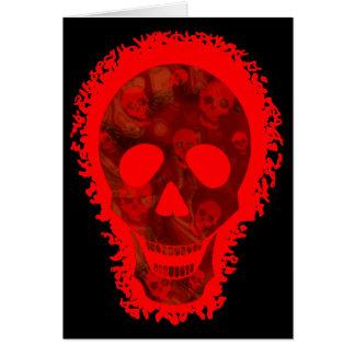 Big Skull Red 'Happy Halloween' card