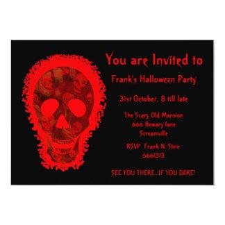 Big Skull Red 'You are Invited' invitation