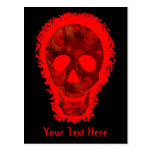 Big Skull Red 'Your Text' postcard