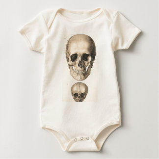 Big Skull, Small Skull Baby Bodysuit