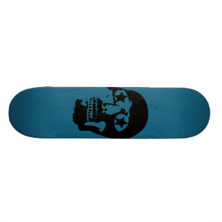Big Skull Teal Skateboard
