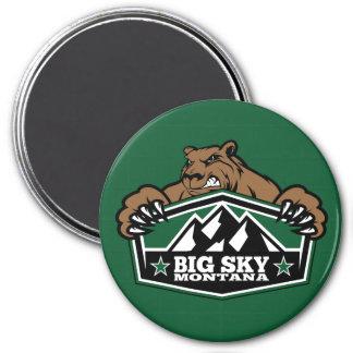Big Sky Brown Bear 3 Inch Round Magnet