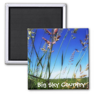 Big Sky Country 2 Inch Square Magnet