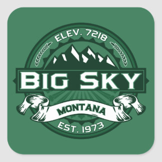 Big Sky Forest Square Sticker