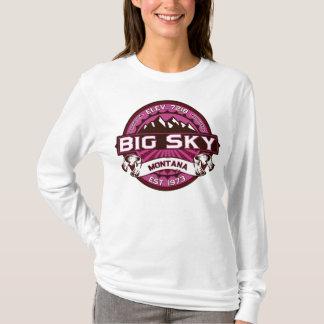 Big Sky Logo Raspberry T-Shirt