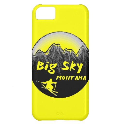 Big Sky Montana artistic skier Cover For iPhone 5C