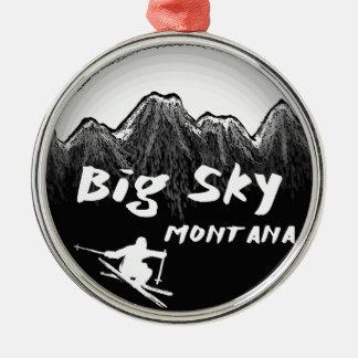 Big Sky Montana artistic skier Christmas Ornaments