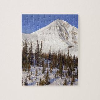 Big Sky Montana mountains Jigsaw Puzzle