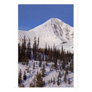 Big Sky Montana skiing and snowboarding resort Postcard