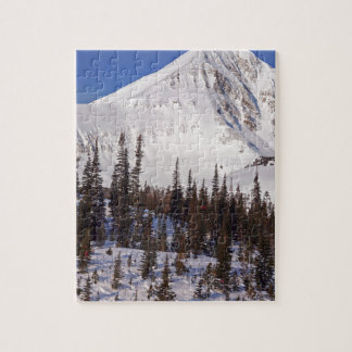 Big Sky Montana skiing and snowboarding resort Jigsaw Puzzle