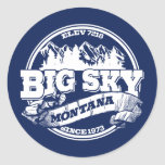 Big Sky Old Circle Blue Stickers
