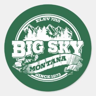 Big Sky Old Circle Classic Round Sticker
