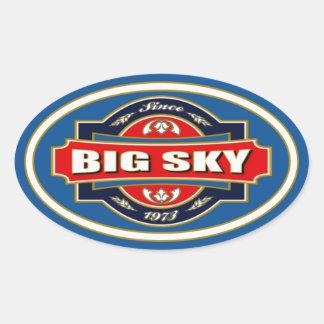 Big Sky Old Label Oval Sticker