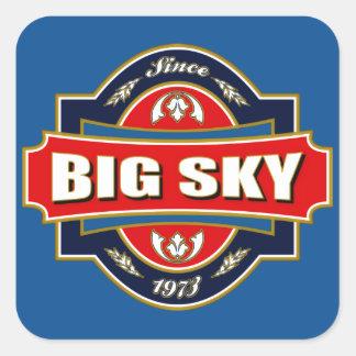 Big Sky Old Label Square Sticker